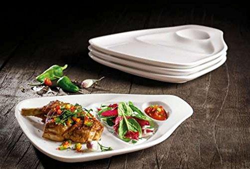Villeroy & Boch – BBQ Passion, Steak-/Grillteller, L, 4-teiliges Set