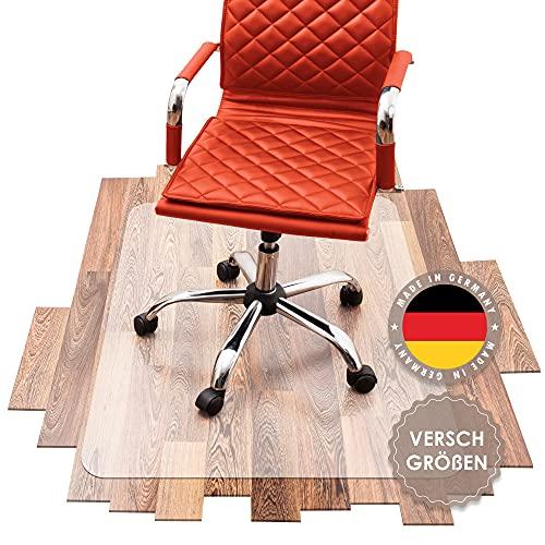 SCHMIEDWERK Bürostuhl Unterlage versch. Größen - Bodenschutzmatte für Schreibtischstuhl rutschfest in transparent milchweiß   Made in Germany (50x70cm)