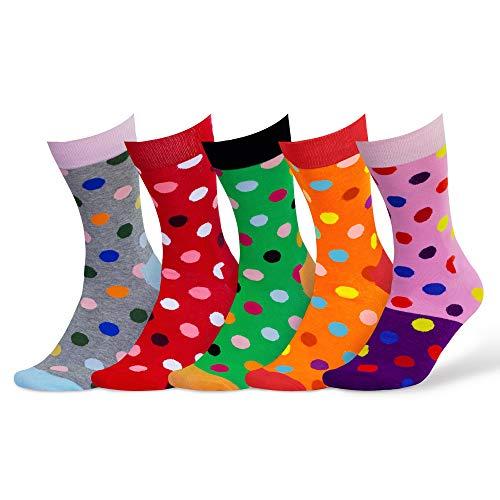 Damen & Herren bunte Socken (5 Paar) (1. Mix)