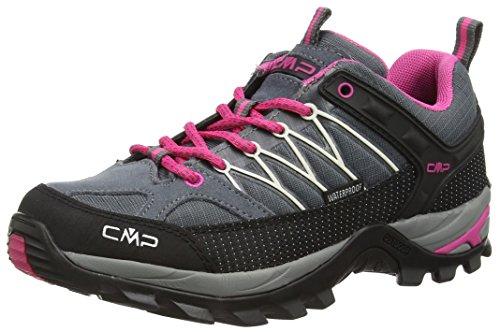 CMP Rigel 3Q54456 Damen Low Trekking Schuhe WP, grau (grey-fuxia-ice 103Q), 39 EU