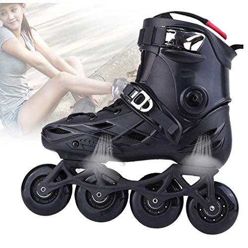 DongZhou Inline Speed Skates Schuhe Hockey Rollschuhe Sneakers Roller Blades Damen Herren Rollschuhe Für Erwachsene Skates Schwarz Weiß35-44