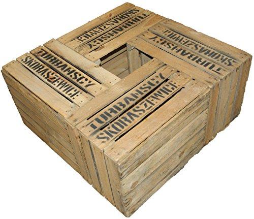 4er Set Massive Obstkiste Apfelkiste Weinkiste aus dem Alten Land +++ 49 x 42 x 31 cm (GEBRAUCHT TS)