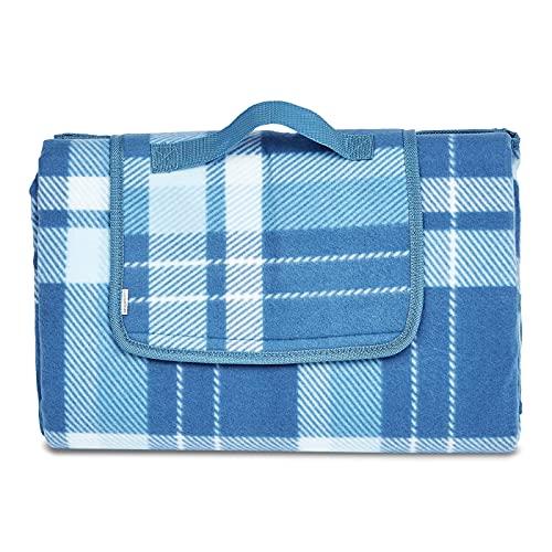 Amazon Basics - Picknickdecke, campingdecke mit wasserdichter Unterseite, 150 x 195 cm