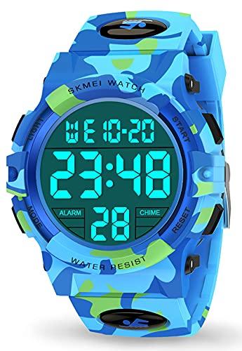 Let's sucher Armbanduhr Kinderuhr Jungen 6-15 Jahre, Armbanduhr Digitaluhren Geschenke für Jungen Kinder 6-15 Jahre Jungen Spielzeug ab 6-12 Jahre Mädchen 6-15 Jahre Geschenke für 6-15 Jahre Kinder