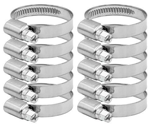 Pangaea Tech Edelstahl Schlauchschellen 25-40mm 10 Stück - Profi Qualität nach DIN 3017 (W2) für Pool, Teich und Garten