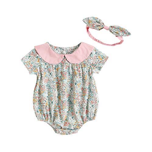 UMore Neugeborenen Baby Mädchen Strampler Kleinkind Sommer Body Outfits Baby Mädchen Kleidung Rüschen Print Flying Sleeves Jumpsuit