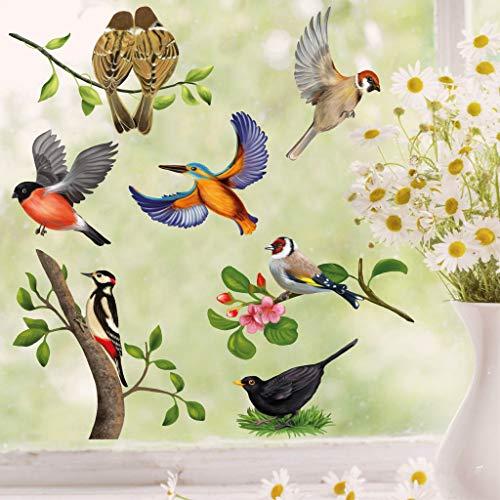 Wandtattoo Loft Fensterbild Frühling Ostern selbstklebend Vogel Wiederverwendbar Vögel / 1. DIN A4