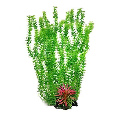 RIFNY Aquarium Pflanzen Deko, künstliche Aquariumpflanze, Plastikpflanzen Fuer Aquarium Dekoration 1-52cm-Green