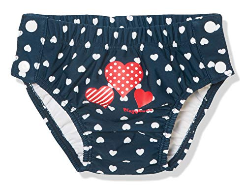 Playshoes UV-Schutz Baby-Mädchen Windelhose Herzen zum Knöpfen Schwimmwindel, Blau (Marine 11), 86/92