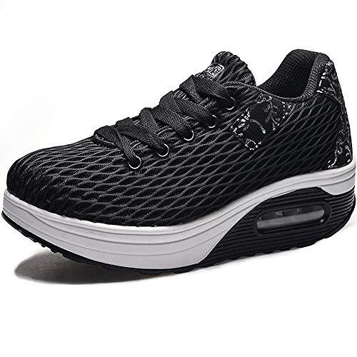 Kemosen Sneaker Damen Outdoor Leicht Atmungsaktive Plateau Freizeitschuhe Sportschuhe Mesh Laufschuhe Straßenlaufschuhe