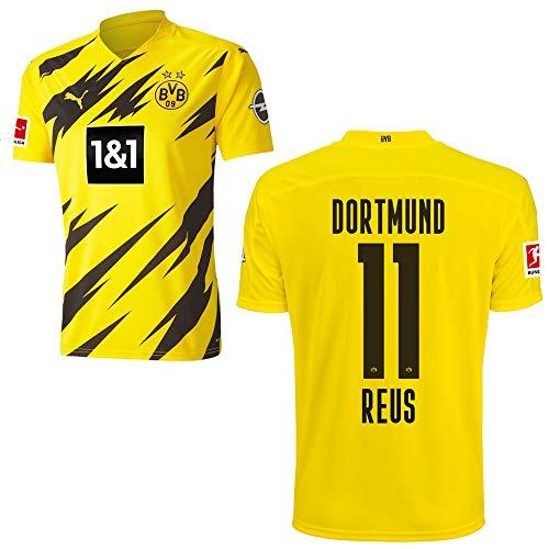 PUMA Borussia Dortmund BVB Heimtrikot 2020 2021 Home Trikot Sponsor BL Logo Kinder Marco Reus 11 Gr 176