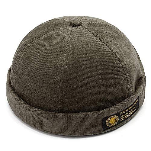 YAMEE Docker-Cap Docker Mütze Seemannsmütze Hafenmütze Herrenmütze Bikercap Hat Wandermütze Dockercap Kopfbedeckung Seemannskappe (Kopfumfang Größenverstellbar)