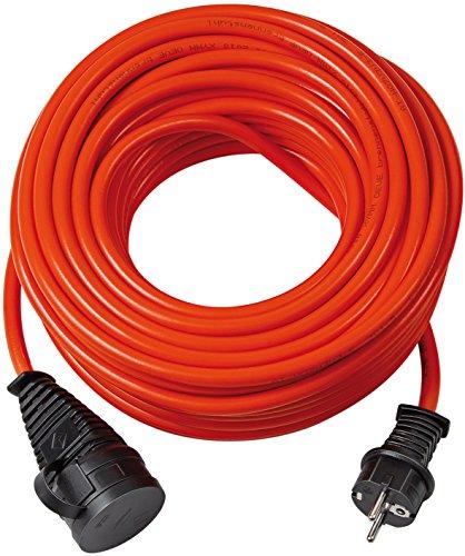 Brennenstuhl BREMAXX Verlängerungskabel (20m Kabel in rot, für den kurzfristigen Einsatz im Außenbereich IP44, einsetzbar bis -35 °C, öl- und UV-beständig), 1161760