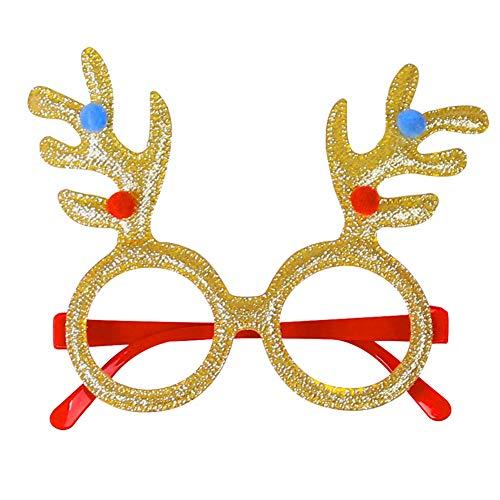 Sanwood Weihnachtsfeier Schneemann Brille Weihnachtsmann Weihnachtsdekor Brillen Erwachsene Kinder Geschenk #12