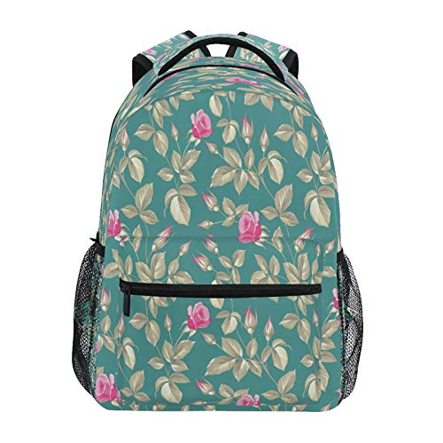 JUMBEAR Kinder Rucksack mit Blumen und Pflanzen, Laptop, Reisen, Mittelschule, Studenten, Segeltuch, leicht, Business, wasserdicht, Schultertasche, Tagesrucksack für Damen und Herren