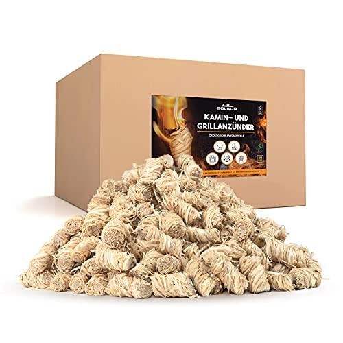 Bolson Grill- & Kaminanzünder (10 kg) aus Holzwolle & Wachs - Ökologische & FSC zertifizierte Anzündwolle - nach DIN hergestellte Anzünder Holzwolle - Grillanzünder Feueranzünder für Kamin & Ofen