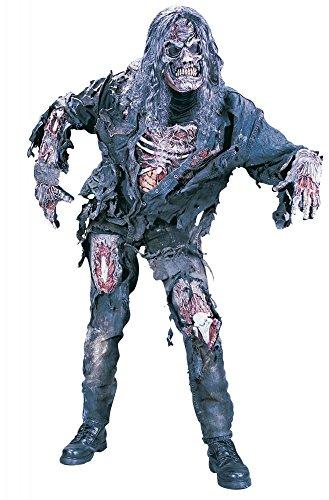 shoperama Zombie Deluxe 3D Kostüm für Herren und Teenager Halloween Horror The Walking Dead, Größe:L/XL