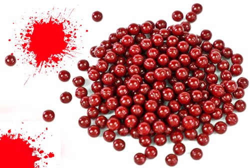 Nerd Clear 1000 Soft-Air Paintballs Farb-Kugeln Munition Kugeln rot 6mm Spielzeug-Pistolen und Soft-Air-Waffen Zubehör Gewehre Sniper