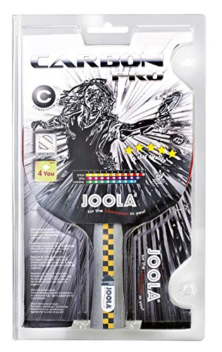 JOOLA Carbon Pro ITTF Zugelassener Tischtennis-Schläger für Fortgeschrittene Spieler - Carbowood Technologie, mehrfarbig, one size