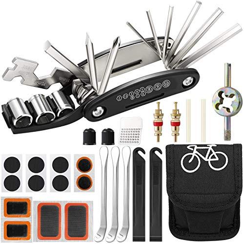Huahuanghui Fahrrad Multitool,35-Set Fahrrad reparaturset,16 in 1 Werkzeuge für Fahrrad Reparatur Set mit Tasche,Fahrrad Multitool,fahrradwerkzeugset mit Reifenheber