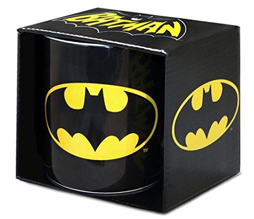 Logoshirt DC Comics - Superheld - GC - Batman - Logo - XXL Porzellan Tasse - Kaffeebecher - schwarz - Lizenziertes Originaldesign