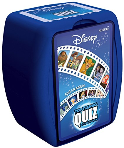 TOP TRUMPS Quiz - Disney Quiz - Disney Fanartikel - Alter 8+ - Deutsch