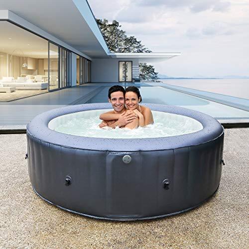Miweba MSpa aufblasbarer Whirlpool Muse Carlton M-CA061 - kraftvolle Hydro-Massagedüsen - inkl. Ozongenerator & UV-C Wasserreinigung (6 Personen)