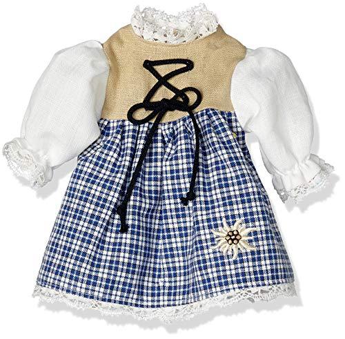 Puppenmode Sturm 8835-00 Dirndl für Puppen, Blau