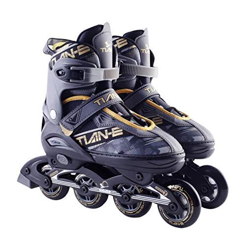 Inline-Skates, Verstellbare Inline-Skates Herren Damen, Rollschuhe Schlittschuhe Rollerblades Für Kinder Erwachsene| 82A Rollen | größenverstellbar Von 35 bis 45 | Unisex Fitness Skates Für Anfänger