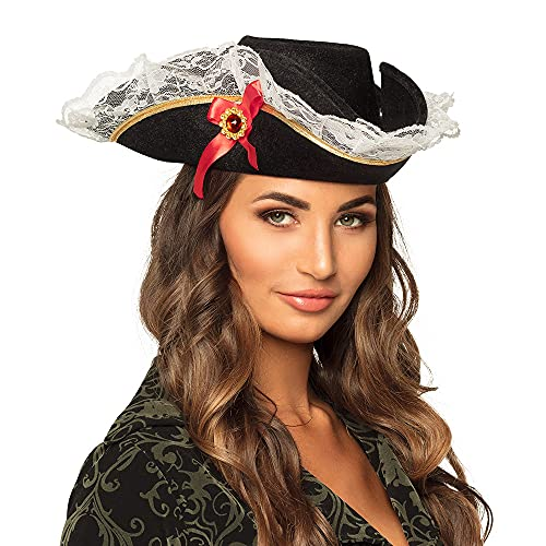 Boland 81928 - Erwachsenenhut Pirat Stacey, Accessoire, Fasching, Karneval