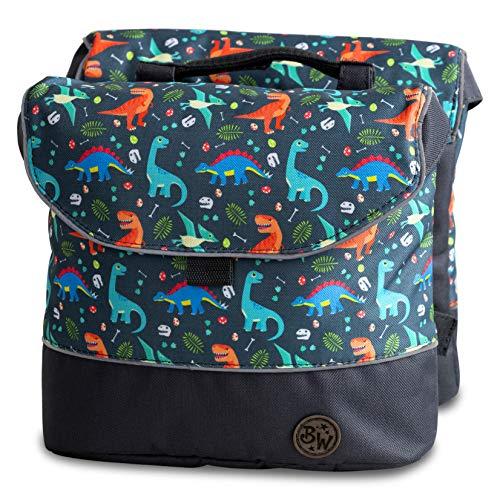 BambinIWelt Gepäcktasche, Gepäckträgertasche für Fahrrad, Fahrradtasche für Kinder, wasserabweisend, z.B. für alle Puky Räder (Modell 16)