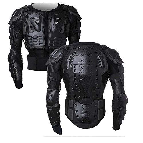 WILDKEN Motorrad Schutz Jacke Pro Motocross ATV Protektorenjacke mit Rückenprotektor Scooter MTB Enduro für Damen und Herren (Schwarz, S)