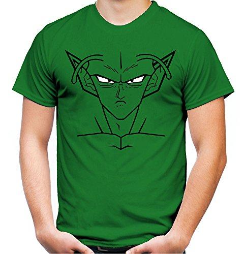 Piccolo Männer und Herren T-Shirt | Spruch Manga Comic Geschenk (M, Grün)