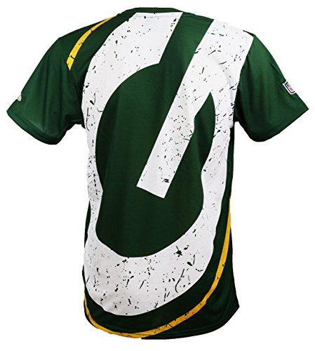 New Era Green Bay Packers T Shirt/Tee Big Logo Back Green - 4XL