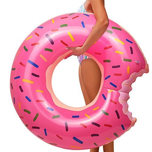 YIJIAOYUN Schwimmring Erwachsene, Schwimmring Donut Aufblasbarer Schwimmring 120 cm Großes Sommer Wasser Spielzeuge Strandspielzeug Schwimm Ring Schwimmsessel Schwimmreifen Erwachsene