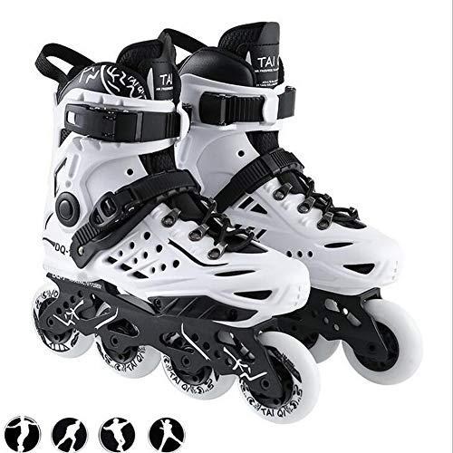 Herren Damen Inliner Inlineskates   82A Rollen   ABEC9 Chrome Kugellager   Unisex Fitness Skates für Erwachsene (White, 38)