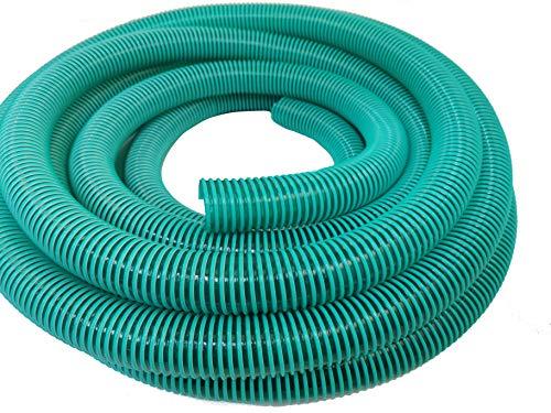 Hero Spiralschlauch Saugschlauch Druckschlauch Förderschlauch 40 mm Grün/Transparent 10 Meter
