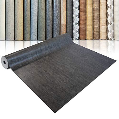 CV Bodenbelag Vancouver - extra abriebfester PVC Bodenbelag (geschäumt) - Eiche Vintage Dunkel - edle Holzoptik - Oberfläche strukturiert - Meterware (200x300 cm)