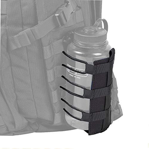 OneTigris Outdoor Trinkflasche Halter Molle Feldflaschentasche Trinkflasche Carrier |MEHRWEG Verpackung (Schwarz - HUNTERZ Flaschenholster)