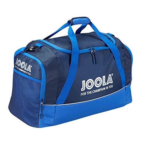 JOOLA Sporttasche Alpha | Bag Geräumige Reisetasche 70 l Volumen| Tischtennis-Tasche mit Hauptfach und Nebenfach, Navy/BLAU, 64 x 37 x 30 cm