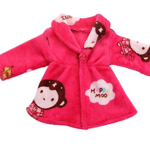 Uteruik 46 cm Puppen-Nachthemd, niedliches Nachthemd, Kleidung, Outfits, Kostüm-Zubehör, 1 Stück (#C)