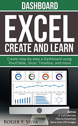 Excel Create and Learn - Dashboard - 2021: More than 250 images and, 4 Full Exercises. Create Step-by-step a Dashboard. (English Edition)