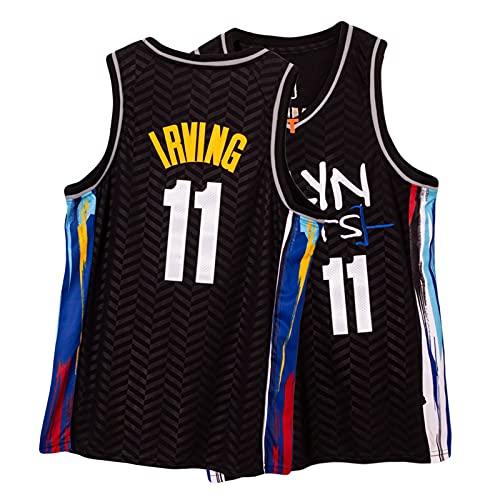 Nets Kyrie Irving Basketball Jersey 11# Männer, 2021 Neue Stadt Edition Jersey Atmungsaktive Mesh Gestickte Fan Sporttraining Ärmelloses Top, S-2XL Irving5-L