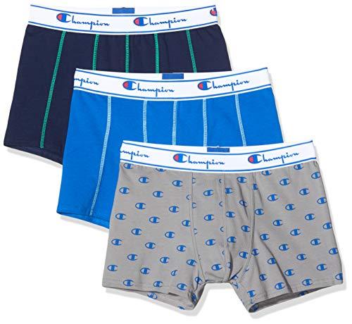 Champion Herren Boxershorts Boxer Coton Mix X3 (3er Pack), Mehrfarbig (District 9Fw)., Medium