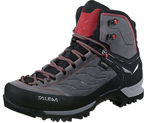 Salewa Herren MS Mountain Trainer Mid Gore-TEX Trekking-& Wanderstiefel, Charcoal/Papavero, 44 EU