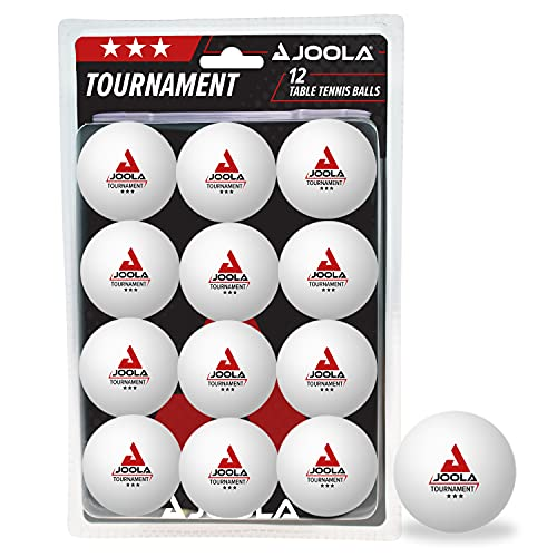 JOOLA 44322 Unisex– Erwachsene Tournament 40+ Tischtennisbälle, weiß, One-Size