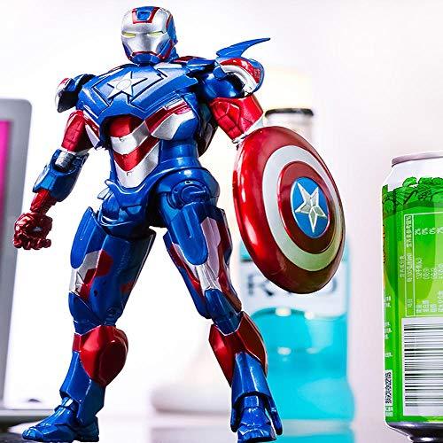 Decddae Marvel Avengers Iron Man 3 Patriot Iron Man Zeichentrick-Modell Für Kinder Patriot