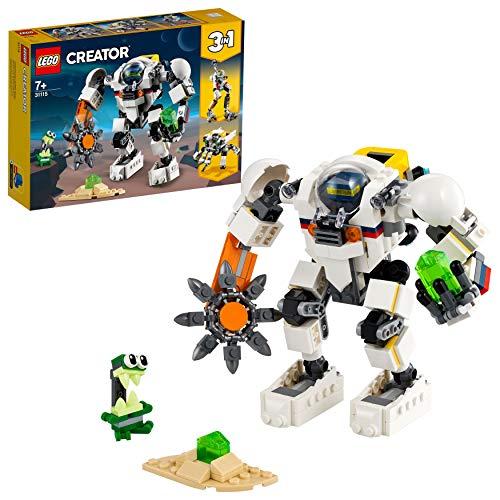 LEGO31115Creator3-in-1Weltraum-Mech,WeltraumroboteroderLastenträgerSpielzeug,ActionfigurBausetmitAlienFigur