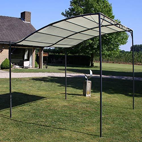 vidaXL Pavillon Cremeweiß Gartenpavillon Überdachung Partyzelt Pergola Garten