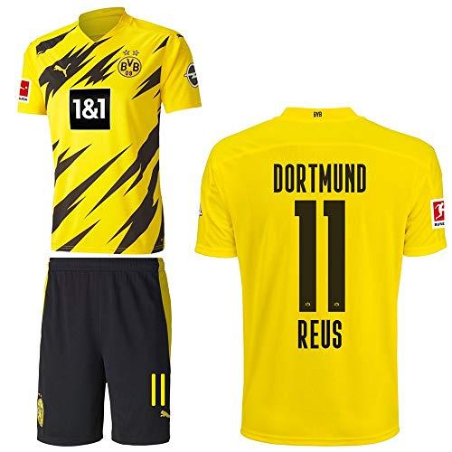 PUMA Borussia Dortmund BVB Heimset 2020 2021 Home Kit Sponsor BL Logo Kinder Marco Reus 11 Gr 128
